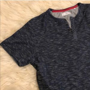 Blue and black Henley